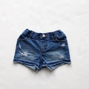 The childrens place ripped raw hem shorts  EUC 2T